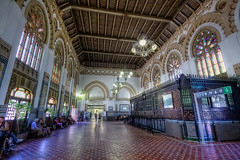 Railway Station  Estacin de Toledo HDR (marcp_dmoz) Tags: espaa station speed canon tren eos high spain interior railway zug bahnhof toledo ave estacion alta velocidad hdr avant spanien highspeed castilla mancha renfe espaola 50d hochgeschwindigkeitszug