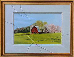 Spring Break  18x24 (Lee Alban) Tags: barn watercolor painting landscape oil trompeloeil realism fooltheeye