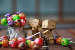 lollypops boy! (sndy) Tags: sanfrancisco toy toys figure figurine sindy kaiyodo yotsuba danbo revoltech danboard