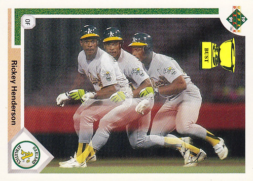 Baseball Card Bust Rickey Henderson 1991 Upper Deck