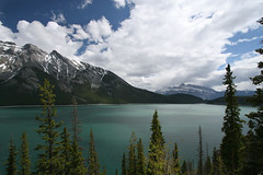 lake minnewanka (Veronika Lake) Tags: lake canada mountains nationalpark hiking alberta rockymountains banffnationalpark glacial lakeminnewanka canadianrockies earlyseasonhike