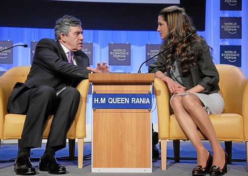 Gordon Brown and Queen Rania