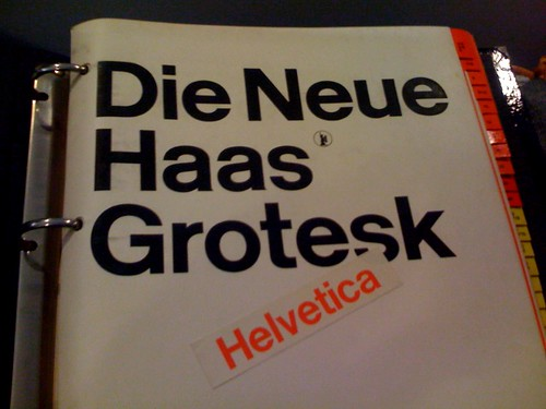 Die Neue Haas Grotesk AKA Helvetica - a photo on Flickriver