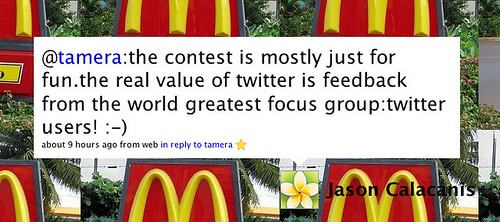 Twitter / Jason Calacanis: @tamera:the contest is most...