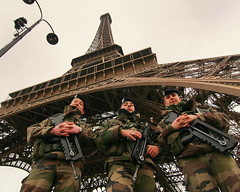 Guards at the Effeil Tower (flickrgao) Tags: paris tower beautiful photo still picture safety photograph guns safe guards effeil