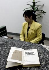 Asking for a book at the  Grand People's Study House Pyongyang - North Korea (Eric Lafforgue) Tags: pictures travel woman girl female del asian photo women war asia femme picture korea kimjongil korean socialist asie coree fille norte northkorea nk ideology axisofevil dictatorship   corea dprk  coreadelnorte stalinist juche kimilsung nordkorea 8050 lafforgue kimjungil  democraticpeoplesrepublicofkorea  ericlafforgue   coredunord  coreadelnord   coreedusud dpkr northcorea juchesocialistrepublic coreedunord rdpc  northkoreagirls northkoreagirl stalinistdictatorship jucheideology kimjongilasia insidenorthkorea  rpdc   demokratischevolksrepublik coriadonorte  kimjongun coreiadonorte