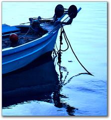 Blue-turquoise reflexions (Eirini Papadaki) Tags: blue reflections boats turquoise greece reflexions silhoutte reflejos nafplio      abigfave aplusphoto megashot