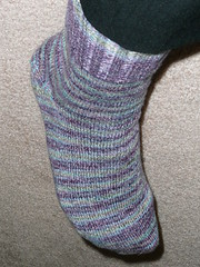 1st sock complete may 17,08