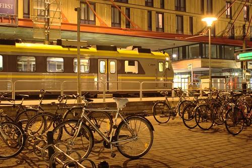 Train, bikes, my hotel