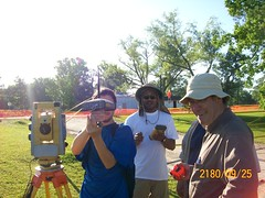 Jarvis, Me, and Lionel - GPS and the IS (Imagin Station) robotic total station (ahmed_tarig) Tags: texas near houston sinkhole | daisetta
