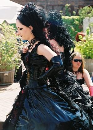 Goth Girl in Period Costume