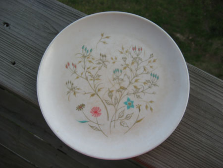 Melmac Flower Plate