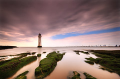 From East to West; New Brighton, The Wirral (Corica) Tags: uk longexposure greatbritain england lighthouse liverpool landscape britain explore futur