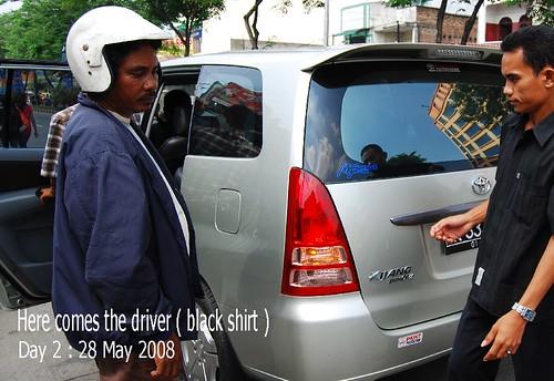 Here comes my taxi driver ( Kijang Innova )