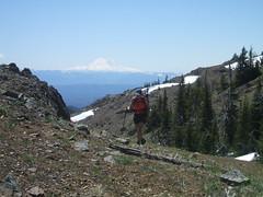 Suzanne on the ridge