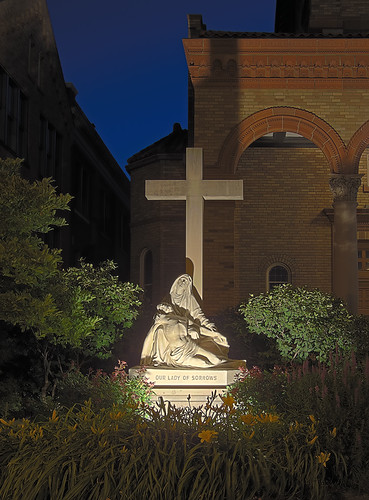Our Lady of Sorrows Roman Catholic Church, in Saint Louis, Missouri, USA - statue