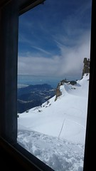 Cosmiques hut - view from the dorm (chaletlaforet) Tags: mountaineering chamonix aiguilledumidi cosmiquesarte