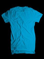 Wrinkled Back- Turquoise (ir0cko) Tags: male back turquoise threadless wrinkled onblack blanktee