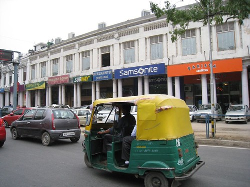 Rickshaw in Connaught Place