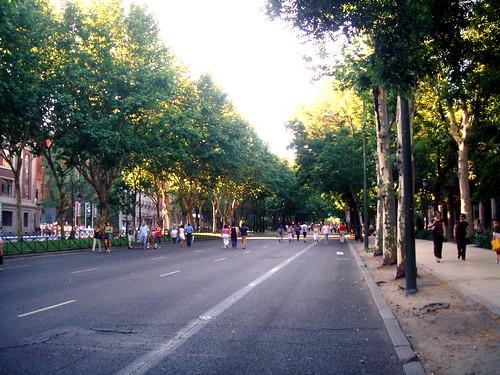 Paseo del Prado ohne Leute