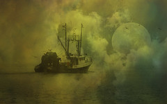 To the ends of the earth (Sunset Sailor) Tags: moon fishing vessel galilee atlantic rhodeisland trawler fv 1680x1050 wideformat dragger abigfave memoriesbook elizabethhelen