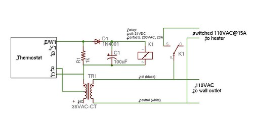 Space Heater Controller Schematic