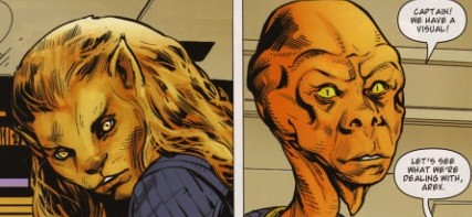 M'ress and Arex in New Frontier comic