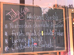 Nietzsche's Chocolate Ascension (alist) Tags: signs alist robison alicerobison ajrobison weirdthingsisee