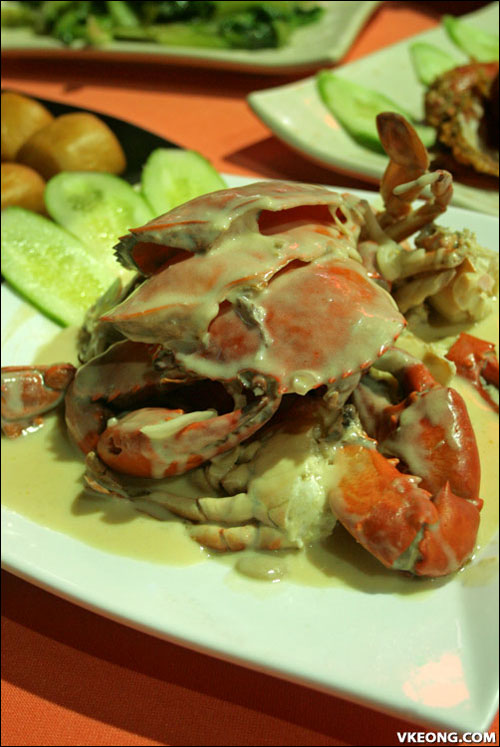 cheese baked crab