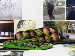 camper twins (alynnteo) Tags: green fruits twins shoes sandals kiwi camper strappy tstrap