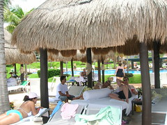 The boyz lounging in the Palapa