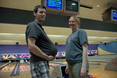 Bowling ball pregnancy and real pregnancy
