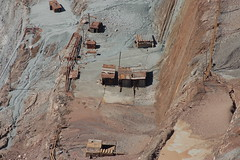 Mirny open pit (detail) (jeandparis) Tags: old travel building rust mine open russia pit siberia collapse mirny