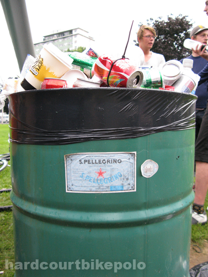 NSPI bike polo 2008 pellegrino trash can