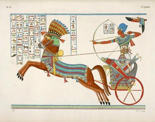 03 b- Ramses IV en su carro de combate