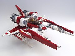 ZR-38 Abaddon front (peterlmorris) Tags: toy fighter lego mashup viper battlestargalactica moc starfighter gradius illyrian colonialviper vicviper