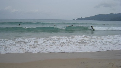 Surfers on Patong Beach