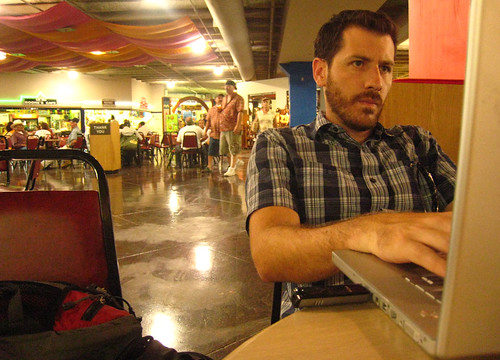 Working at El Mercado in San Antonio