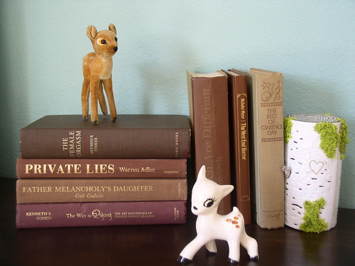 deer with books