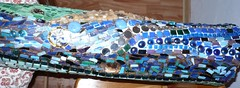 Trunk (Mosaikstall) Tags: glass mirror mosaic spiegel trunk nuggets flint glas mosaik kiesel baumstamm