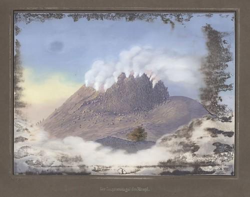 Der Eruptionskegel des Merapi
