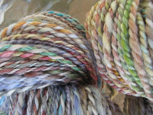 Creatively Dyed Handspun Yarn close-up