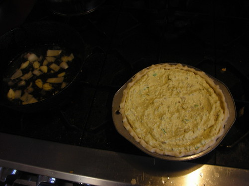 Quiche before cooking