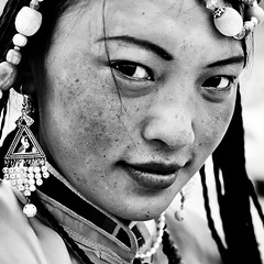 tibetan nomad girl (falsalama) Tags: portrait woman girl tibet nomad tibetan falsalama   danielgriffin