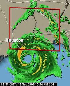 Hurricane Ike comes ashore