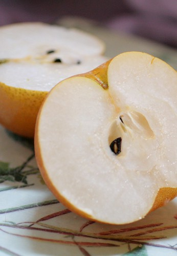 Asian pear halves