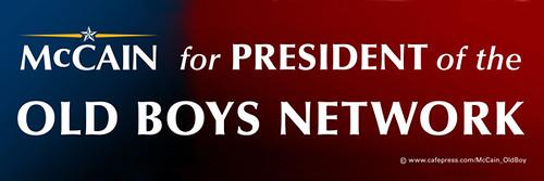 McCain_old boys club bumper sticker from www.Cafepress/McCain_OldBoy