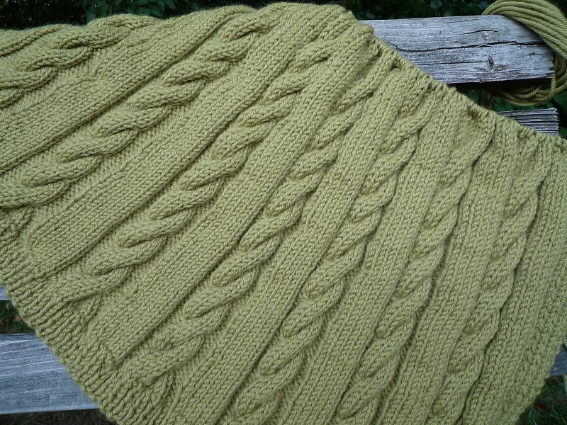 cabled throw