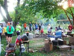 Breakfast prep at Bike the Barns 2008