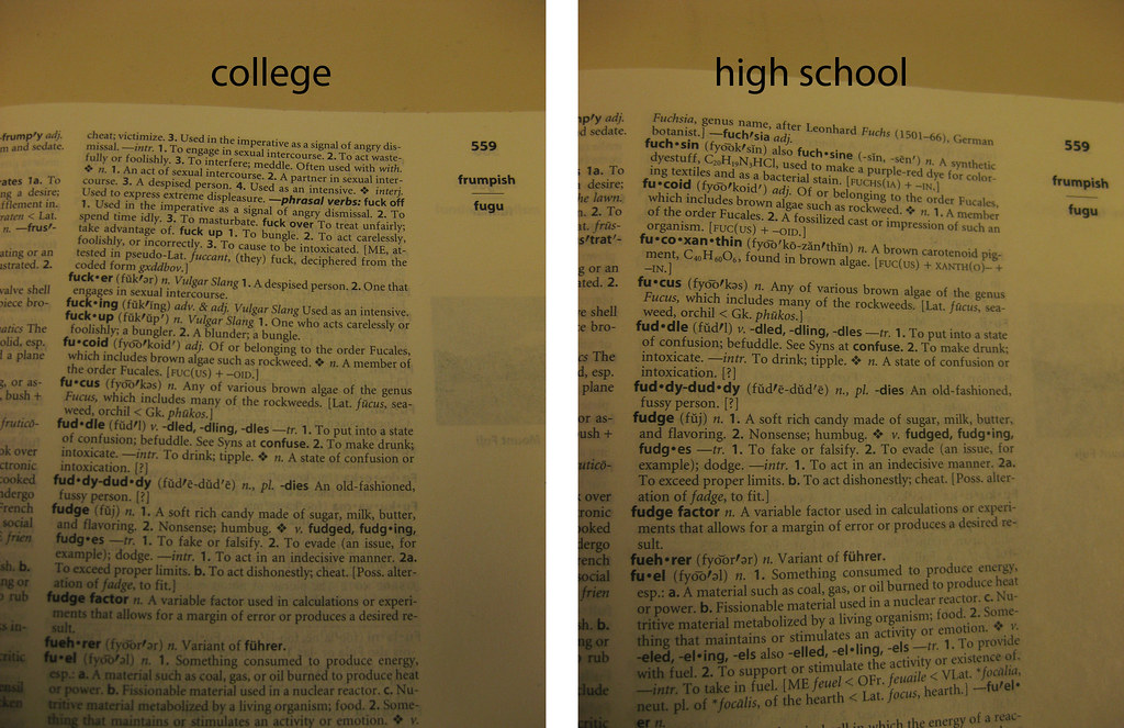 high school vs. college AHD